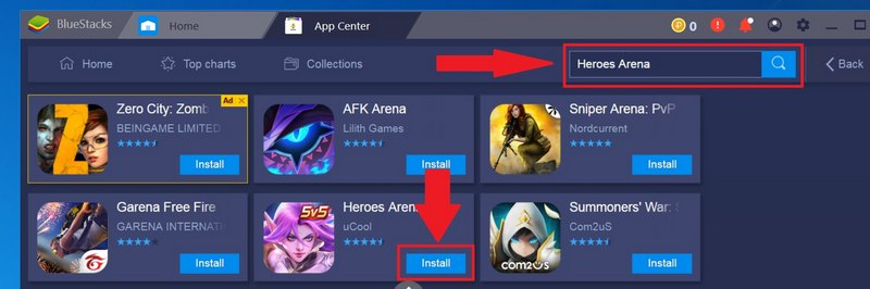 Install Heroes Arena on PC with Bluestacks